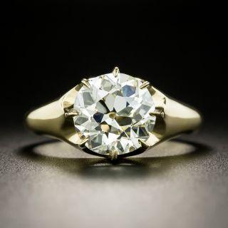 Vintage Style 3.03 Carat Diamond Solitaire Engagement Ring - GIA N VVS2 - 1