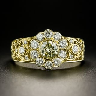 Vintage Style .52 Carat Diamond Cluster Ring - 2
