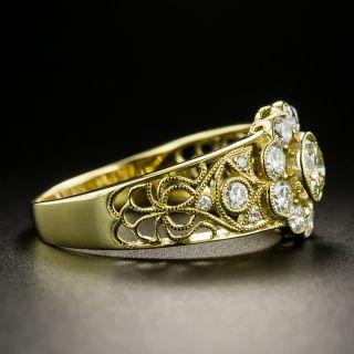 Vintage Style .52 Carat Diamond Cluster Ring
