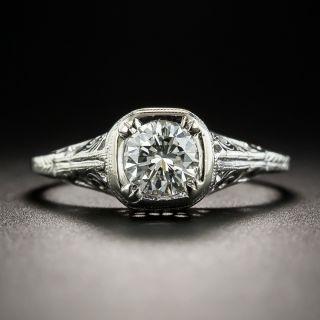 Vintage Style .53 Carat Diamond Solitaire Engagement Ring - 1