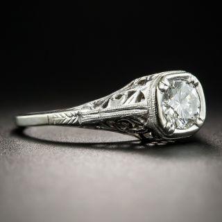 Vintage Style .53 Carat Diamond Solitaire Engagement Ring