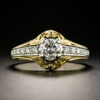 Vintage Style .55 Ct. Diamond Engagement Ring by Van Craeynest - 2