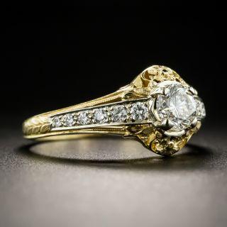 Vintage Style .55 Carat Diamond Engagement Ring by Van Craeynest