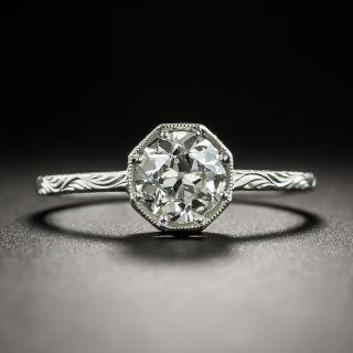 Vintage Style .90 Carat European-Cut Diamond Solitaire - GIA J VS2 - 9