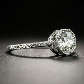 Vintage Style .90 Carat European-Cut Diamond Solitaire - GIA J VS2