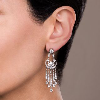 Vintage Style Chandelier Diamond Earrings