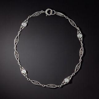 Vintage Style Diamond Chain Bracelet - 2