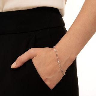 Vintage Style Diamond Chain Bracelet