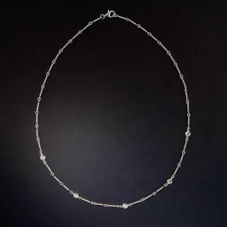 Vintage Style Diamond Chain Necklace - 1