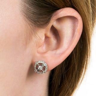 Vintage Style Diamond Stud Earrings