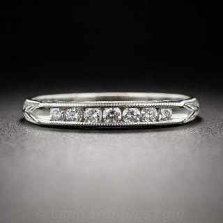 Vintage Style Diamond Wedding Band - 5