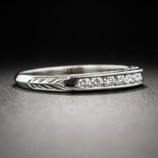 Vintage Style Diamond Wedding Band