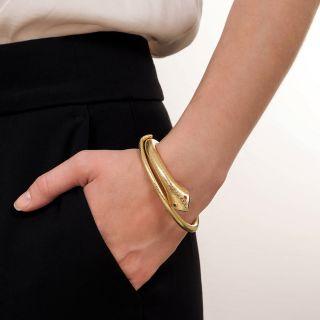 Vintage Textured Snake Bracelet