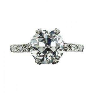Vintage Tiffany & Co 3.02 Carat Diamond Engagement Ring - GIA E Internally Flawless