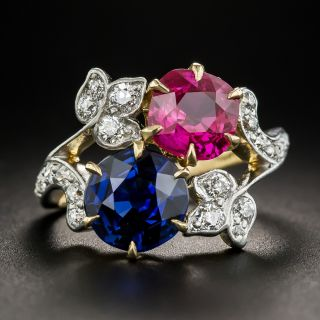 Edwardian Tiffany & Co. Ruby and Sapphire Ring