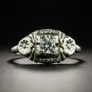 Art Deco .17 Carat Diamond Engagement Ring - 1