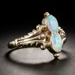 Vintage Twin Opal Ring
