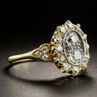 Vintage Twin-Stone Diamond Halo Ring