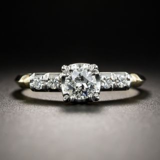 Vintage Two-Tone .31 Carat Diamond Engagement Ring by Granat Brothers  - 2
