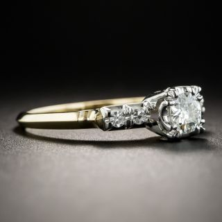 Vintage Two-Tone .31 Carat Diamond Engagement Ring by Granat Brothers