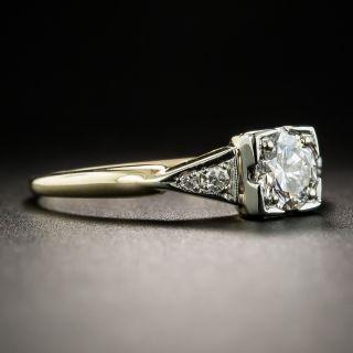 Vintage Two-Tone .52 Carat Diamond Engagement Ring
