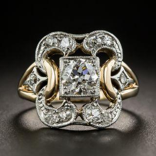 Vintage Two-Tone .57 Carat Diamond Ring - GIA F SI1 - 2