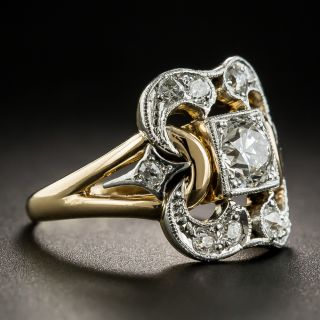 Vintage Two-Tone .57 Carat Diamond Ring - GIA F SI1