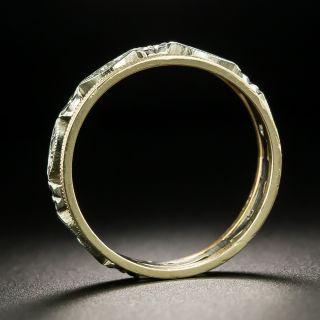 Vintage Two-Tone Diamond Wedding Band - Size 7 1/4