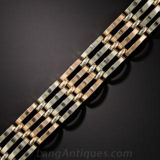 Vintage Two-Tone Gate Link Bracelet