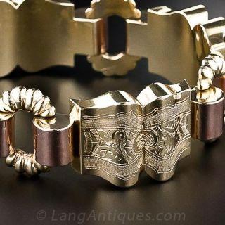 Vintage Two-Tone Gold Bracelet