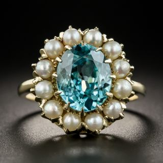 Vintage Zircon and Pearl Ring by Baden & Foss - 2