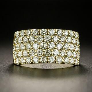 Wide Pavé Diamond Band - 2