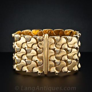Wide Retro Link Bracelet