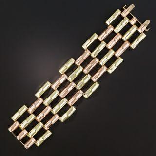 Wide Retro Two-Tone Bracelet
