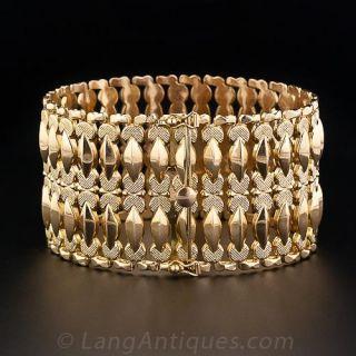 Wide Rose-Gold Retro Bracelet