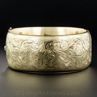 Wide Victorian Bangle Bracelet from Hungary