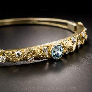Zircon and Diamond Bangle Bracelet - 1