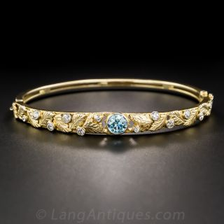 Zircon and Diamond Bangle Bracelet