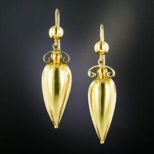English Victorian Amphora Earrings - 2