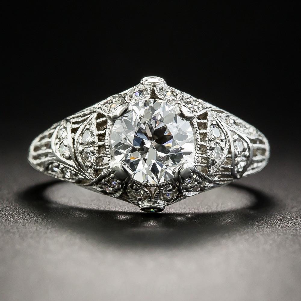 Edwardian Diamond and Platinum Engagement Ring