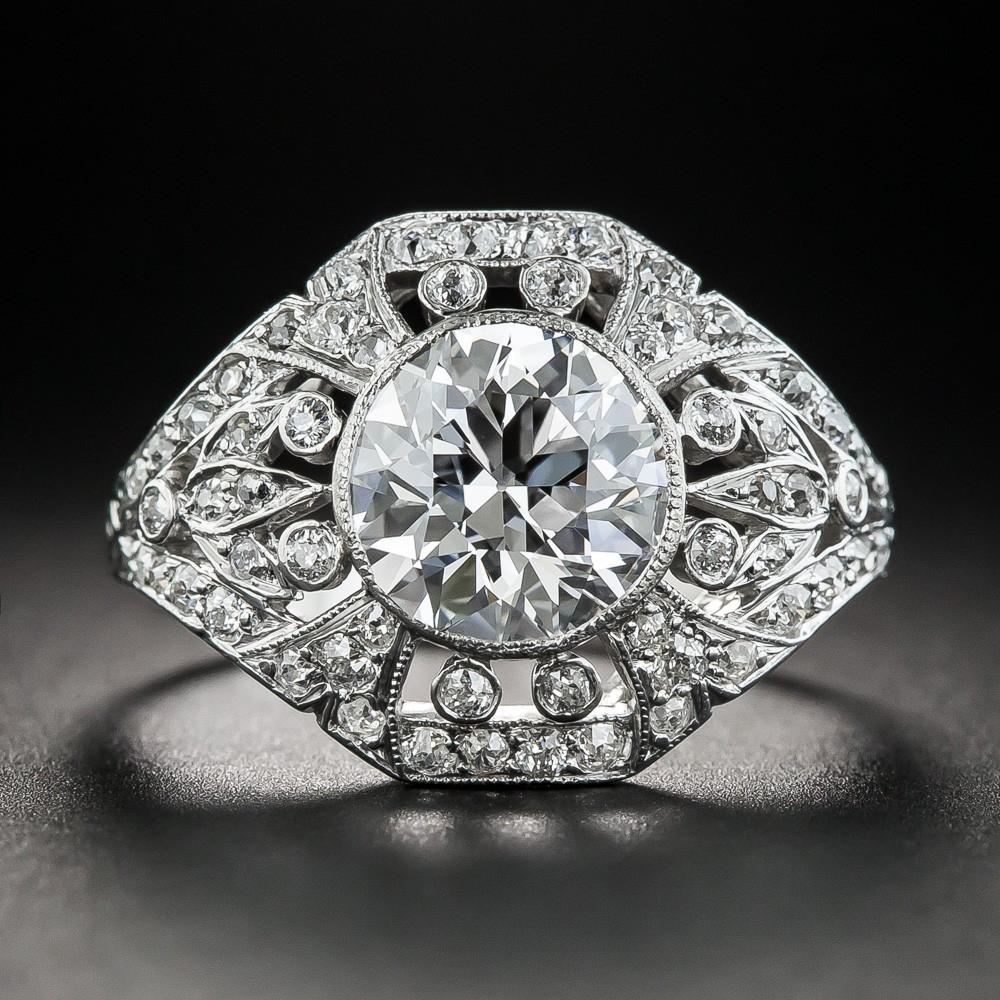 Edwardian Internally Flawless Diamond Engagement Ring