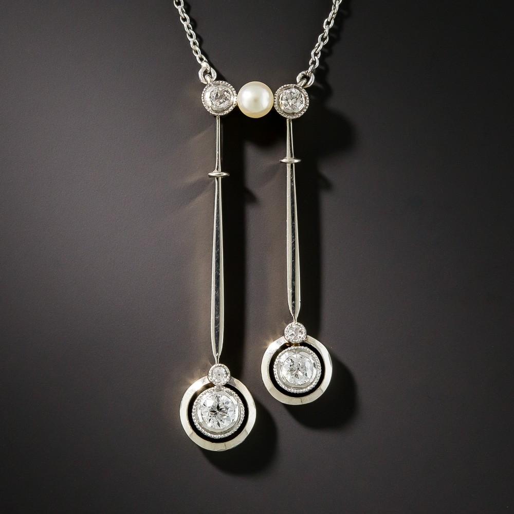 Edwardian Diamond Négligée Necklace