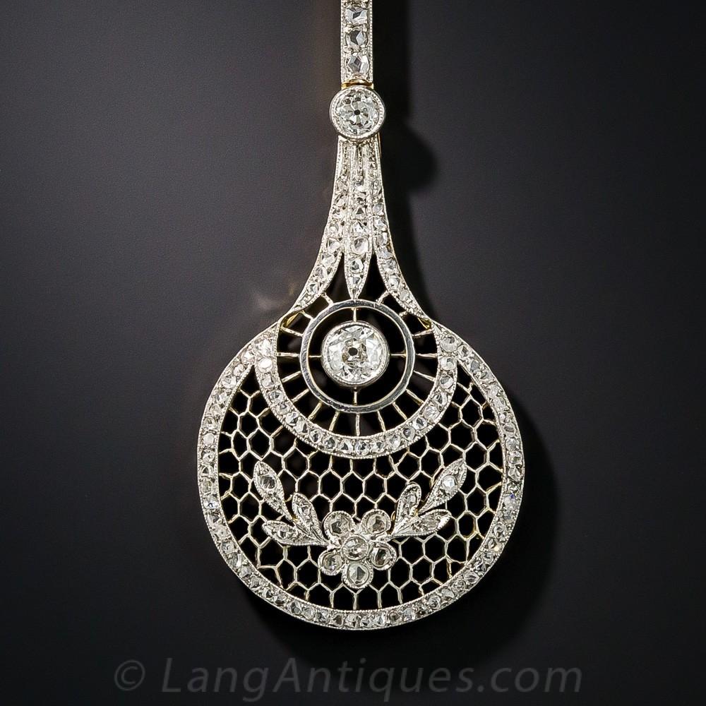 Long Edwardian Diamond Lavaliere