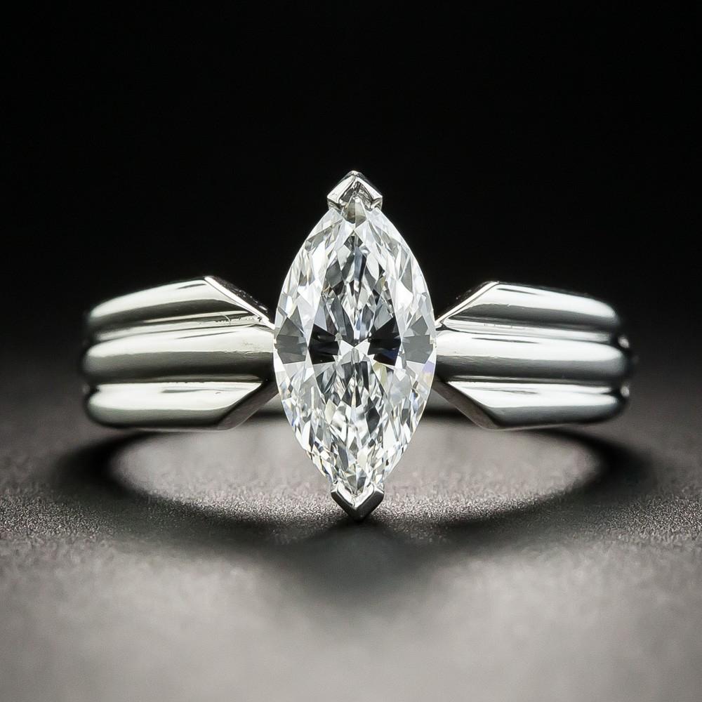 Cartier 1.10 Carat Marquise Diamond Engagement Ring