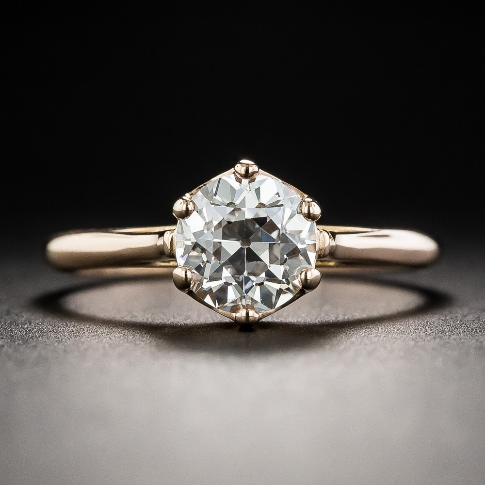 1.28 Carat European-Cut Diamond