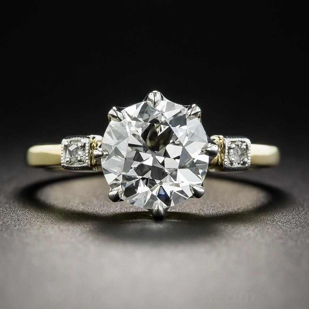 2.12 Carat Diamond Solitaire Engagement Ring