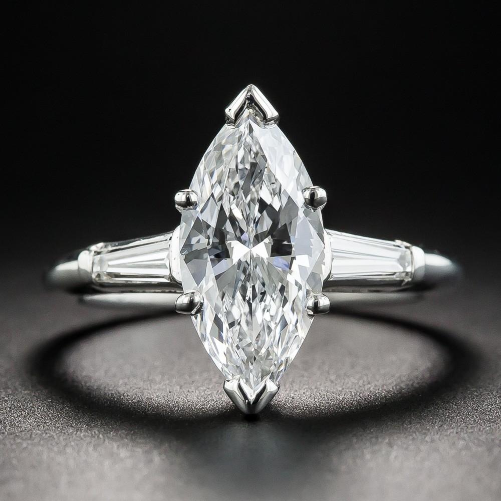 2.07 Carat Marquise Diamond Engagement Ring