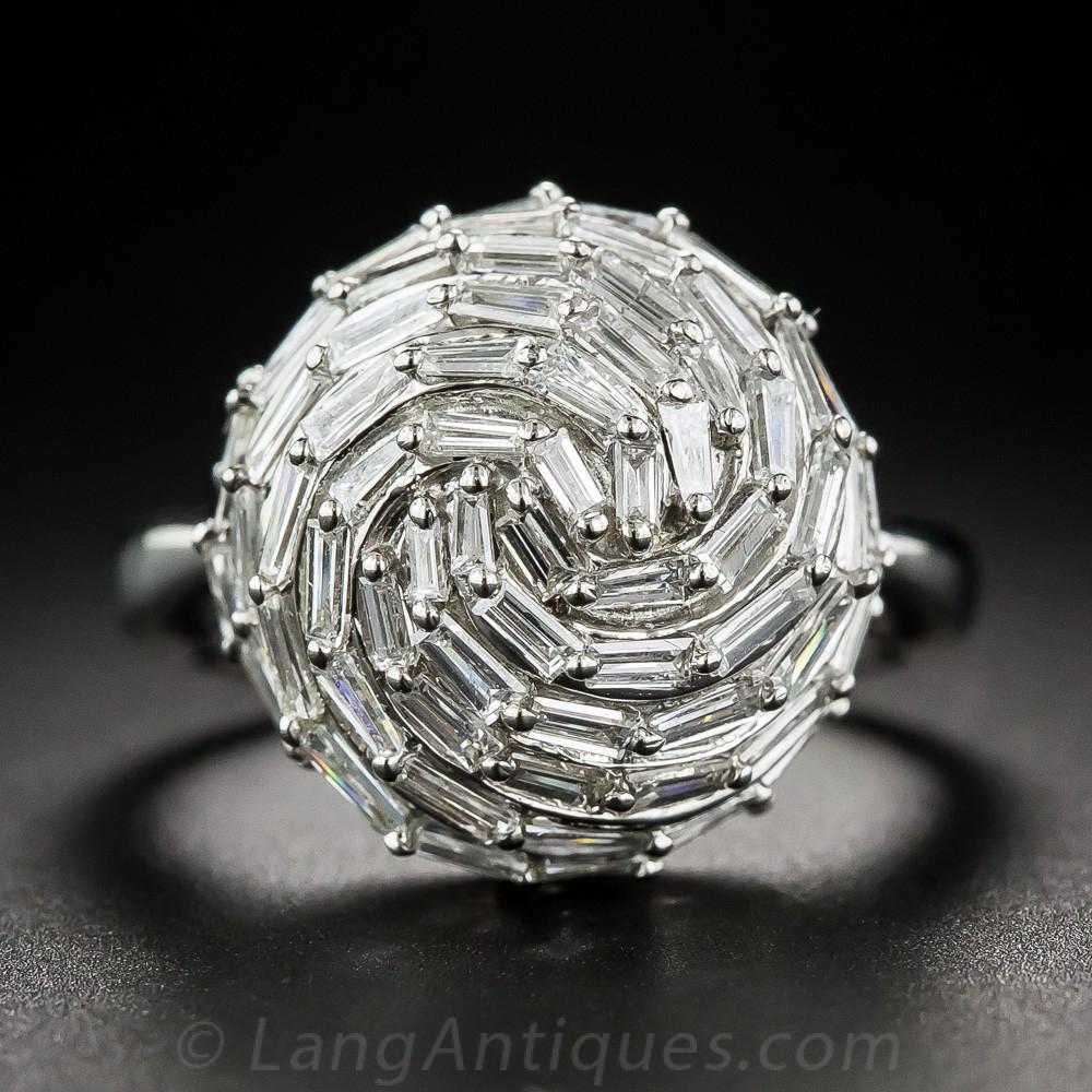 Baguette Diamond Cocktail Ring
