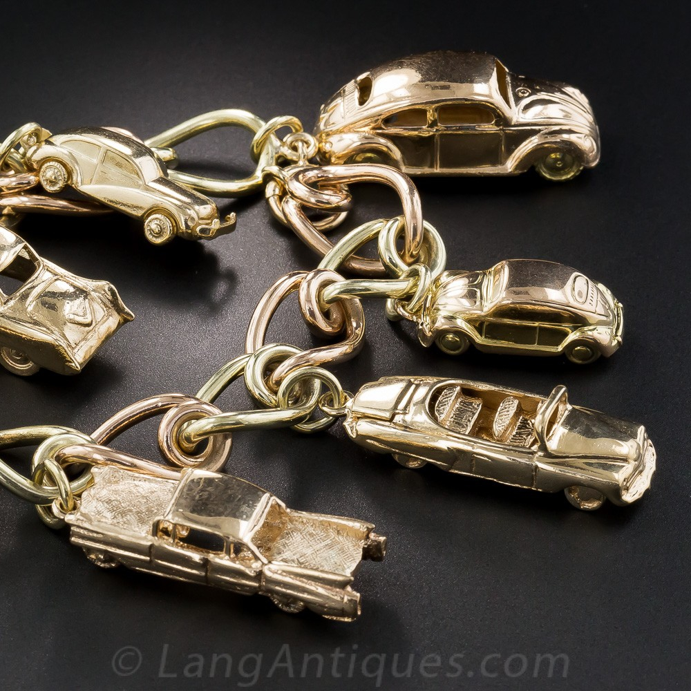 Vintage Car Charm Bracelet