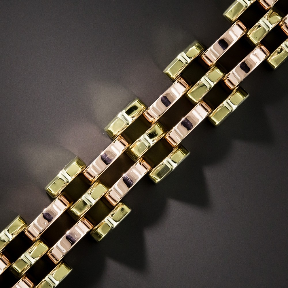 Retro Rose and Green Gold Bracelet